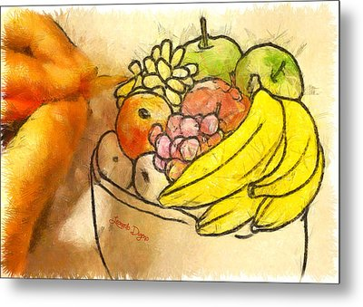 The Fruit Maker - Da Metal Print by Leonardo Digenio