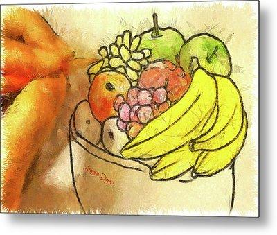 The Fruit Maker Metal Print by Leonardo Digenio