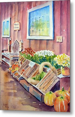 The Fruit Stand Metal Print by Bobbi Price