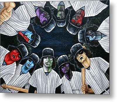 The Furies Game Over Metal Print