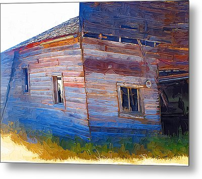 Metal Print featuring the photograph The Garage by Susan Kinney
