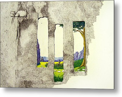 Metal Print featuring the painting The Garden by A  Robert Malcom