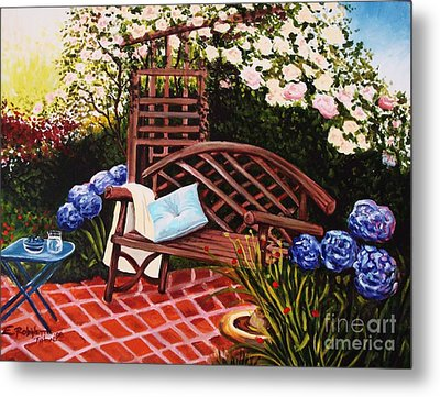 Metal Print featuring the painting The Garden by Elizabeth Robinette Tyndall