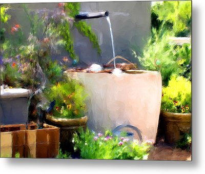 The Garden Metal Print by Fred Baird