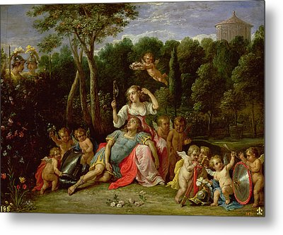 The Garden Of Armida Metal Print by David the younger Teniers