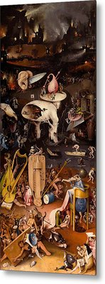 The Garden Of Earthly Delights, Right Wing Metal Print