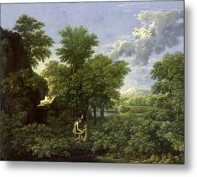 The Garden Of Eden Metal Print by Nicolas Poussin