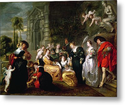 The Garden Of Love Metal Print by Peter Paul Rubens