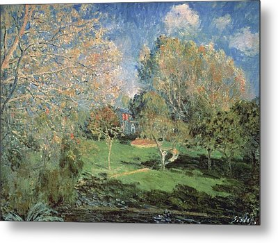 The Garden Of Monsieur Hoschede In Montgeron Metal Print by MotionAge Designs
