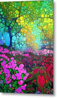 The Garden Tree Metal Print by Tara Turner