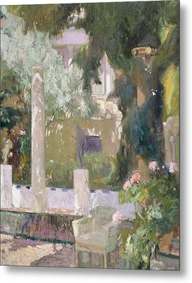 The Gardens At The Sorolla Family House Metal Print