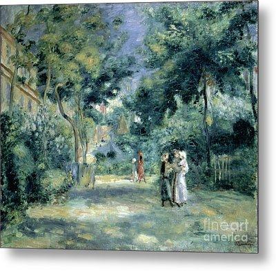 The Gardens In Montmartre Metal Print by Pierre Auguste Renoir