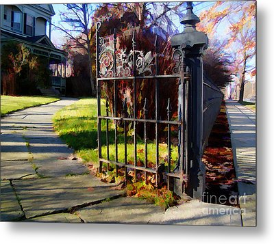 Metal Print featuring the photograph The Gate by Betsy Zimmerli