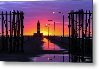 The Gates Of Dawn Metal Print by Mary Amerman