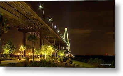 The Gateway Charleston Harbor Arthur Ravenel Jr Bridge Metal Print by Reid Callaway