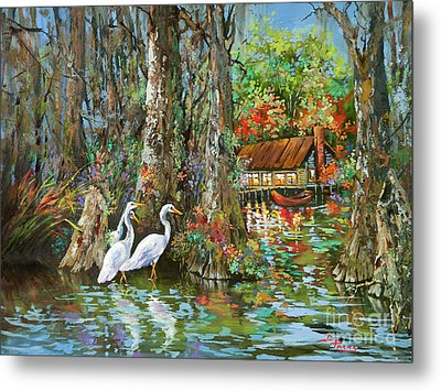 The Gathering - Louisiana Swamp Life Metal Print by Dianne Parks