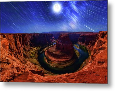 The Gathering Moon Metal Print by ABeautifulSky Photography