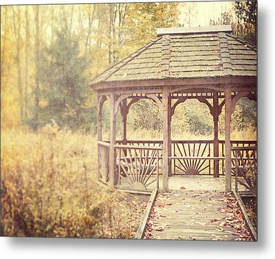 The Gazebo In The Woods Metal Print by Lisa Russo