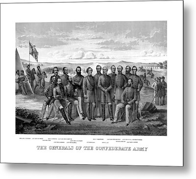 The Generals Of The Confederate Army Metal Print