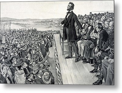 The Gettysburg Address Metal Print by American School