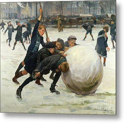 The Giant Snowball Metal Print
