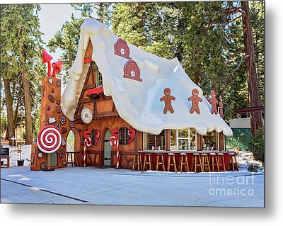 Metal Print featuring the photograph The Gingerbread House by Eddie Yerkish