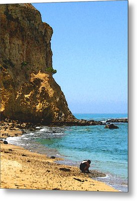 The Girl At Abalone Cove Metal Print