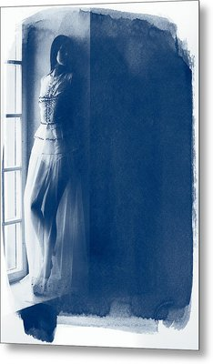The Girl At The Window. Metal Print