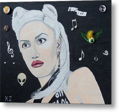 The Girl From Orange County.gwen Stefani. Metal Print by Ken Zabel
