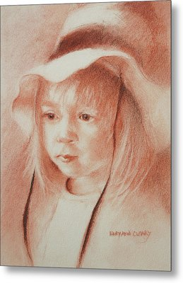 The Girl In The Hat Metal Print by MaryAnn Cleary