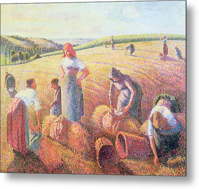 The Gleaners Metal Print by Camille Pissarro