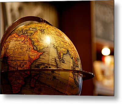 The Globe Metal Print by Edward Myers