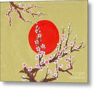 The Glory Morning Sakura Metal Print by Renu Martin