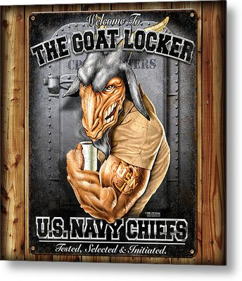 The Goat Locker Metal Print
