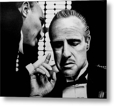 The Godfather Metal Print by Rick Fortson