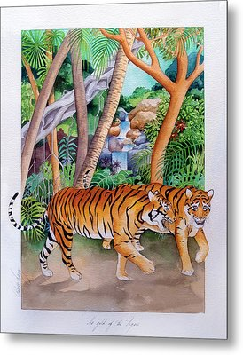 The Gold Of The Tigers Metal Print by Robert Lacy