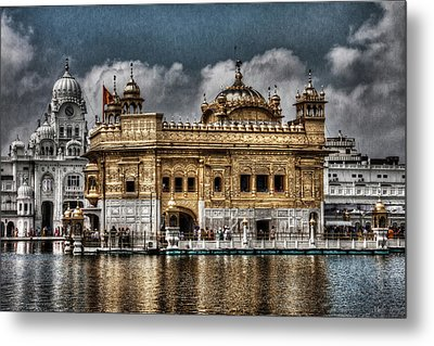 The Gold Temple Metal Print