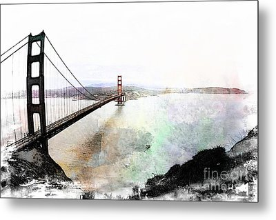 The Golden Gate From The Marin Headlands Metal Print