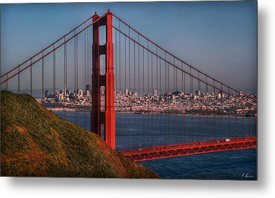 The Golden Gate Metal Print by Hanny Heim