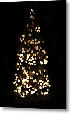 The Golden Glow Of A Christmas Tree Metal Print