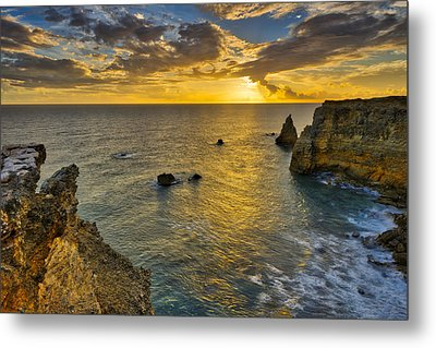 Metal Print featuring the photograph The Golden Hour - Cabo Rojo - Puerto Rico by Photography By Sai