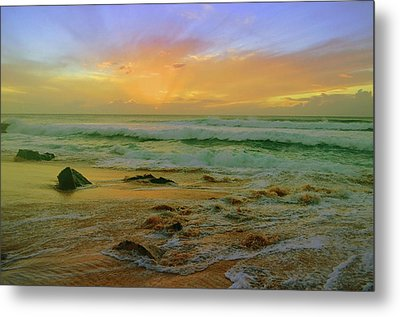 Metal Print featuring the photograph The Golden Moments On Molokai by Tara Turner