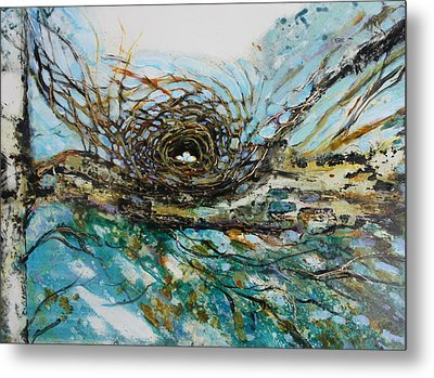 The Golden Nest Metal Print