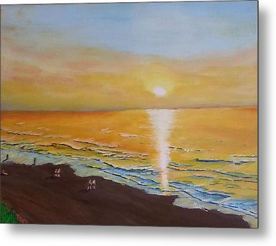The Golden Ocean Metal Print