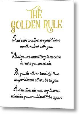 The Golden Rule Metal Print