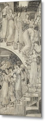 The Golden Stairs Metal Print by Sir Edward Coley Burne-Jones