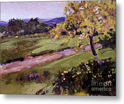 Metal Print featuring the painting The Golden Tree by Diane Ursin