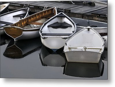 Skiffs On Placid Waters-coastal Maine Metal Print