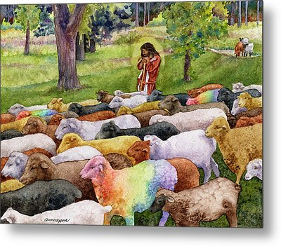 The Good Shepherd Metal Print by Anne Gifford