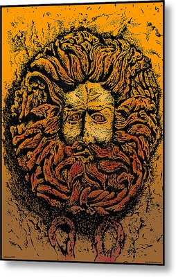 The Gorgon Man Celtic Snake Head Metal Print by Larry Butterworth